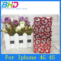 Slim Plastic Palace Flower Cheap for Apple iphone 4 Case