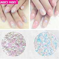 Japeness 1mm 2mm round fantasy pink blue nail sequins #1649