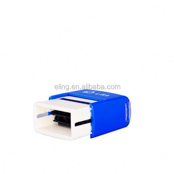 Plastic Self inking Stamp deskmate crystal office rubber photosensitive stamp