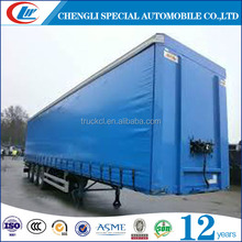 3 axles tri axles curtain side trailer 30tons 35tons 40tons sidecurtain trailer 12 wheels sidecurtain trailer