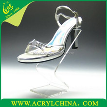 2016 clear acrylic shoe display stands shoe tree wholesale