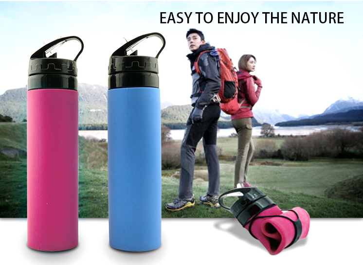 lifestyle Products collapsible silicone water bottle