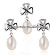 Quality 925 sterling silver hyderabad pearl jewelry