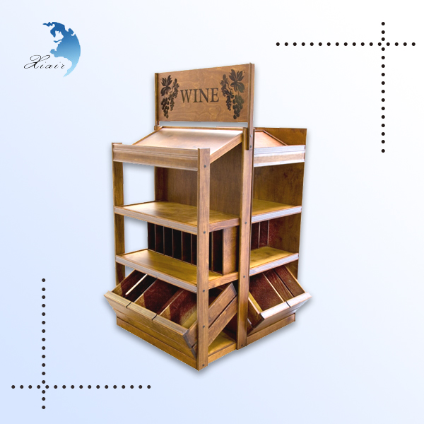 Hot selling beautiful and useful shopping mall candy wooden display rack