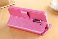 Original Filp PU Leather Case For LG Optimus G2 D802 Fashion Rhinestone And Luxury Camellia Phone Cover With Card Holder