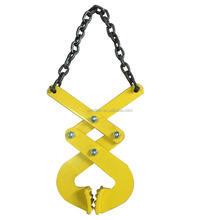 Double Scissor Steel pallet pullers With Yellow Color