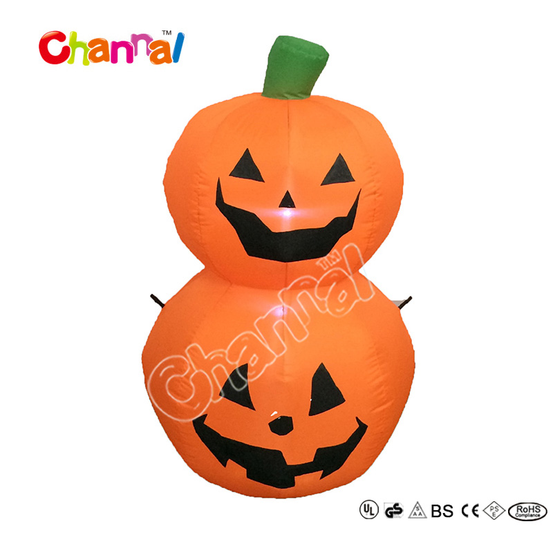100% Polyester 4FT Inflatable halloween pumpkin Group Decoration
