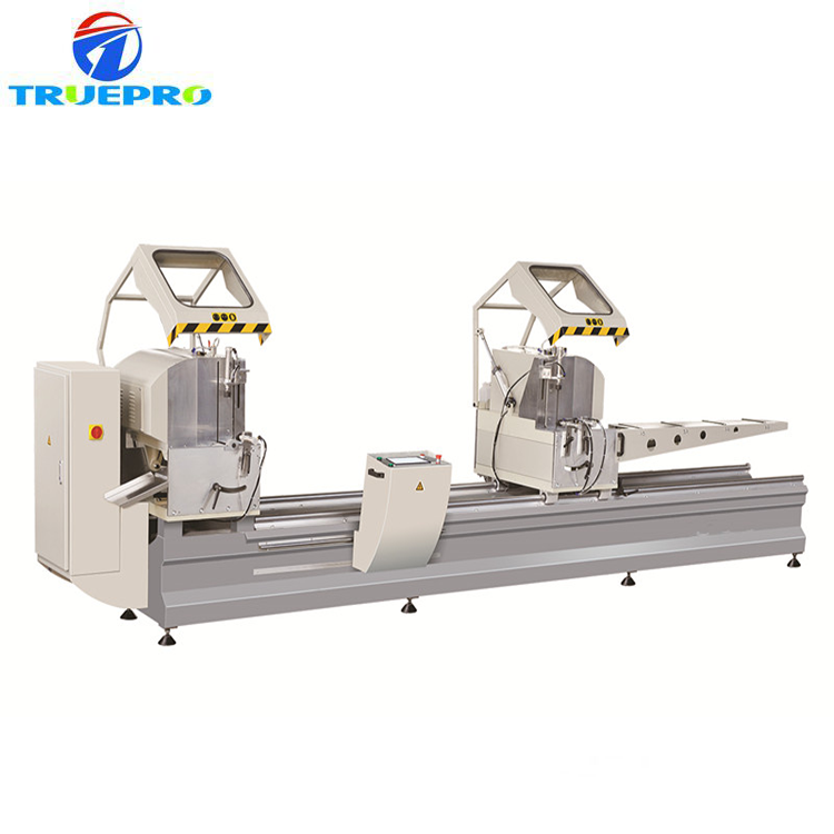 Factory price window machine cutting Saw/CNC double head precision miter saw semi automatic