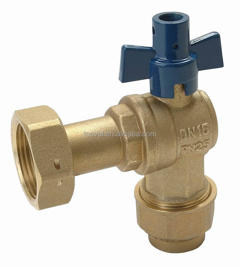 Brass Angle Ball Valve For Water Meter