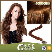 Trendy wholesale Silicon micro ring bead hair extensions