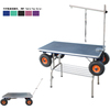 2017 dog products pet grooming folding groom table with Inflatable wheels N-301W