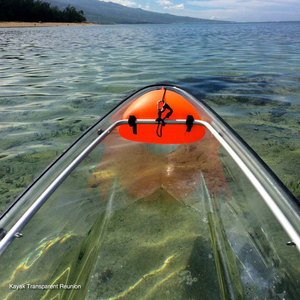 China plastic Clear sea Transparent Kayak for 2 Person