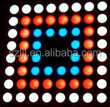 Common anode RGB led dot matrix in 8x8 array