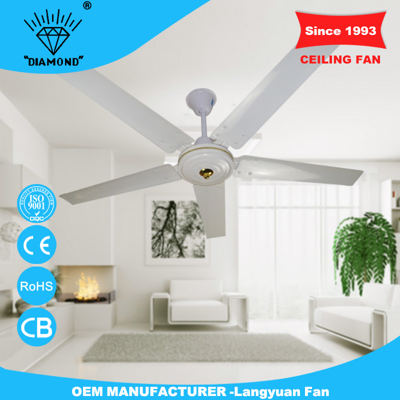More size selection 56inch outdoor ceiling fan specifications with 5 blades