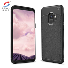 Soft tpu carbon fiber mobile phone back cover for samsung galaxy s9 carbon fiber case