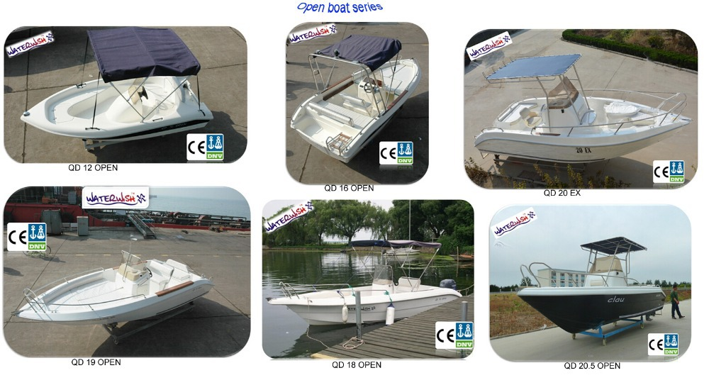 WATERWISH boat QD27 CABIN Fibreglass Fishing Cabin Boat Manufacturing