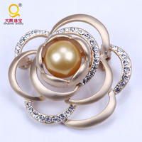 New gold korean pearl large brooches pins