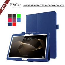 "2016 hot selling pu leather back stand cover case for Huawei MediaPad M2 A01W 10.1""case"
