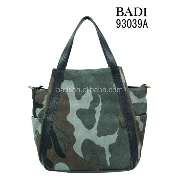 Military camouflage women bag guangzhou leather factory
