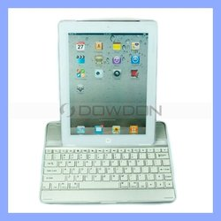 Mobile Aluminum Case with Bluetooth Keyboard for Apple iPad 2/iPad 3
