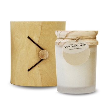 160g Soy wax candle jar with 100% Natural Soy Wax Scented Candle in 7.3*8.0 Glass Jar With Wood Lids