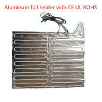 Aluminum foil heating plate defrosting heater in refrigerator with self-adhesive