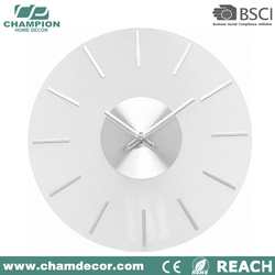 Latest design frosted glass wall clock , tuning chinese novelty electronic wall clock