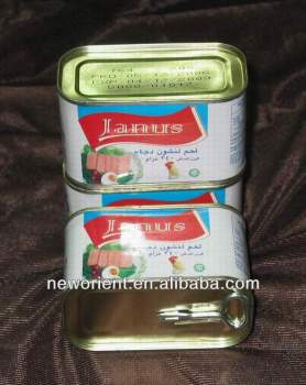 Halal Chicken Luncheon Meat hot sale,beef and meat