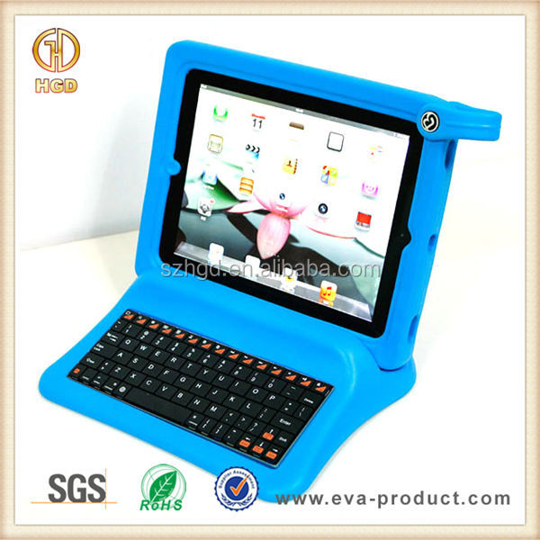 Big grip foam frame and stand for ipad bluetooth keyboard case