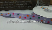 colorful star printed hot stamping ribbon for packing and decoration