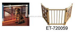 KEEP YOUR PETS SAFE! foldable wooden pet gate for your puppy and kitten