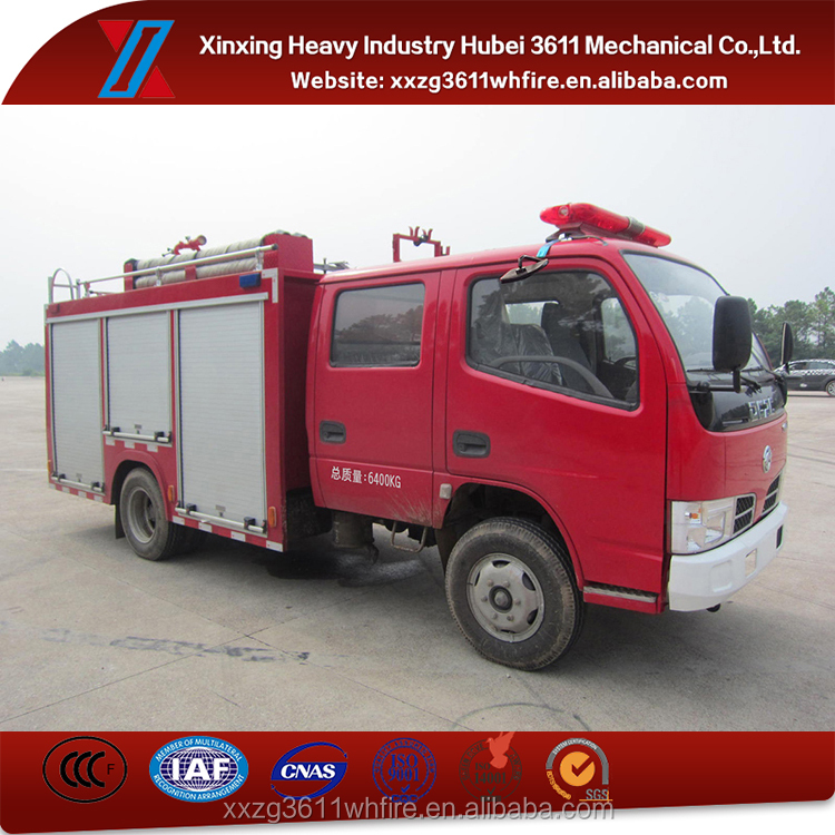 China Supplier Emergency Rescue 2000L Fire Truck Manufacturers Europe