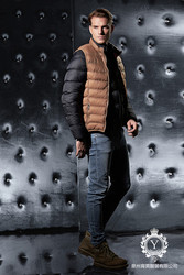 cotton-padded detachable winter down vest western jacket