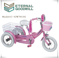 GW7013G four wheel bicycle/golden wheel bicycles/passenger three wheel bicycle