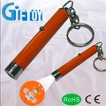 Promotional items led projective torch key chain light logo