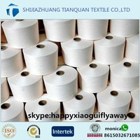 Super Quality Weaving Yarn for India pakistan market spun polyester yarn 30/1 60S manufacturer in china
