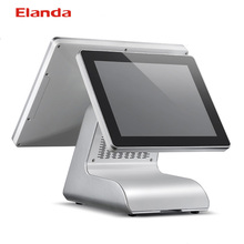 Dual touch screen All in one windows 7 pro pos terminal/Epos system /all in one touch pc