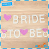 Cheap china factory price bride to be banner with glitter