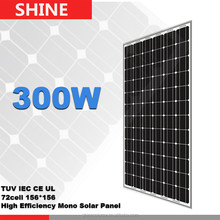 High efficiency 265 watt painel solar 300w mono glass pv module solar board