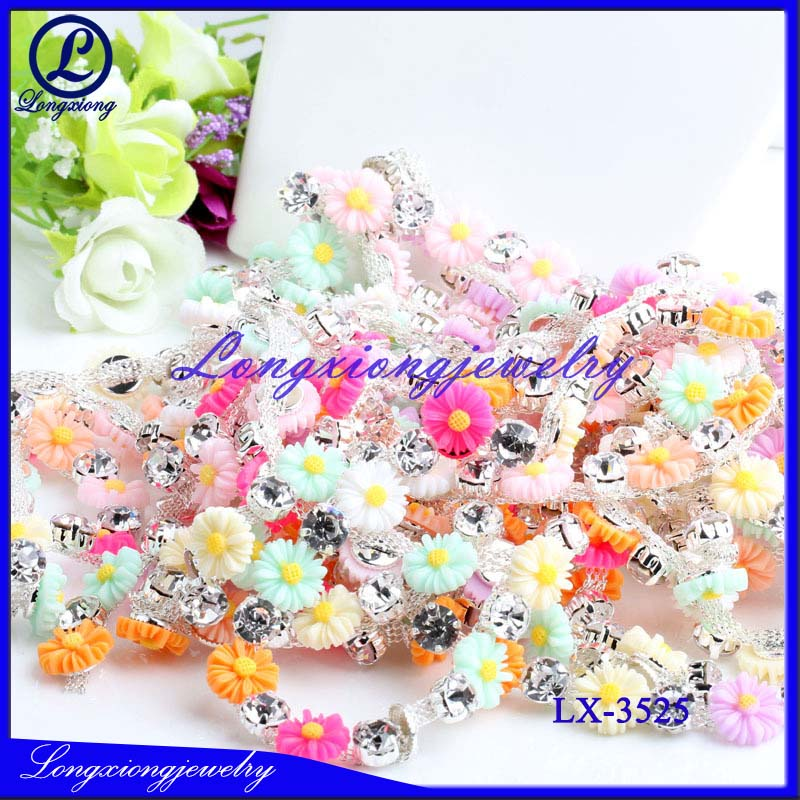 Wholesale Rhinestone Chain Trimming For Wedding Dress