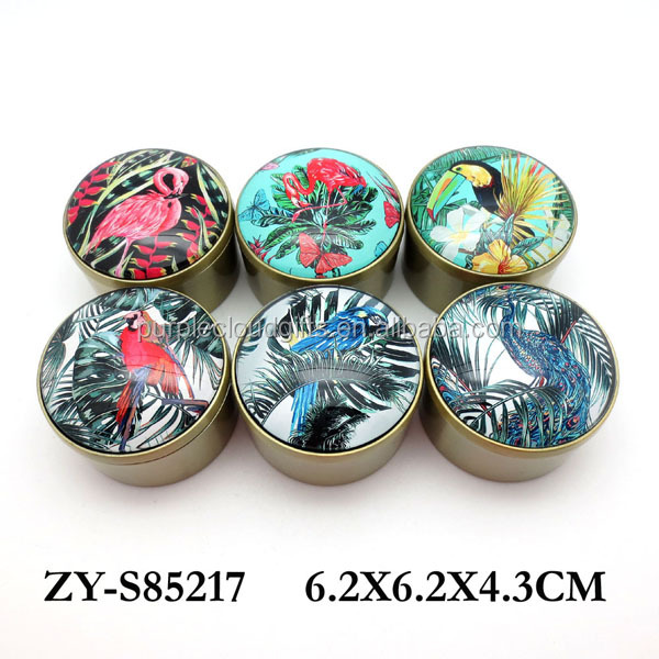 hot selling jungles fire bird design small metal bronzed trinket jewelry box