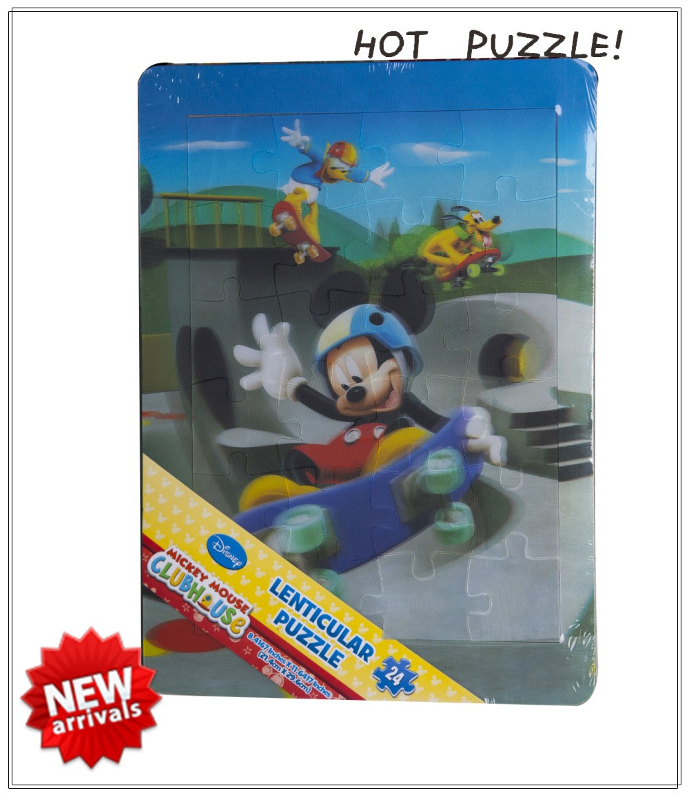 OEM Lenticular jigsaw puzzle and educational toy game puzzle frame