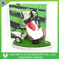 Leather Bag+Green Grass Mini Golf Sets Supplier