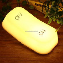 Alonefire LED Night Light ON OFF wireless lighting led bedside lamp USB rechargeable led bedroom seesaw design led lamp light