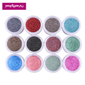 10g jar packing new arrival 12 monochromatic colors nail glitter powder