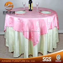 100% polyester jacquard round wedding party table cloth for sale