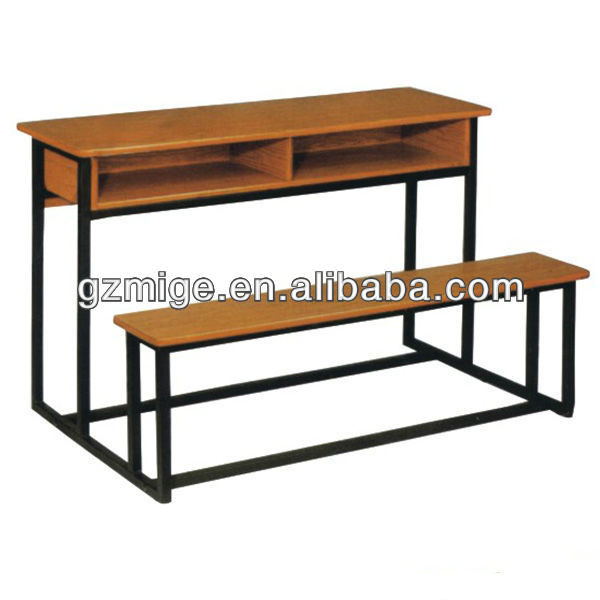 Double Seats Linear Wooden Classroom Table