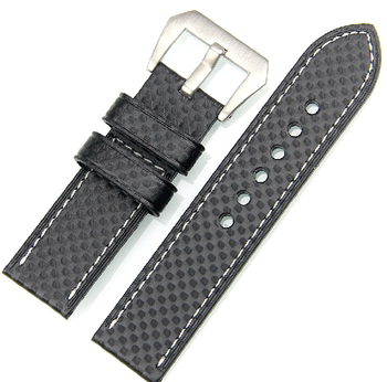 Guangzhou factory wholesale full size carbon fiber leather watch straps