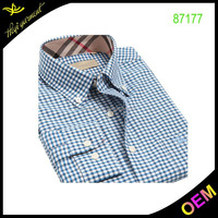 Blue stripe fashion design dress shirts men pakistan