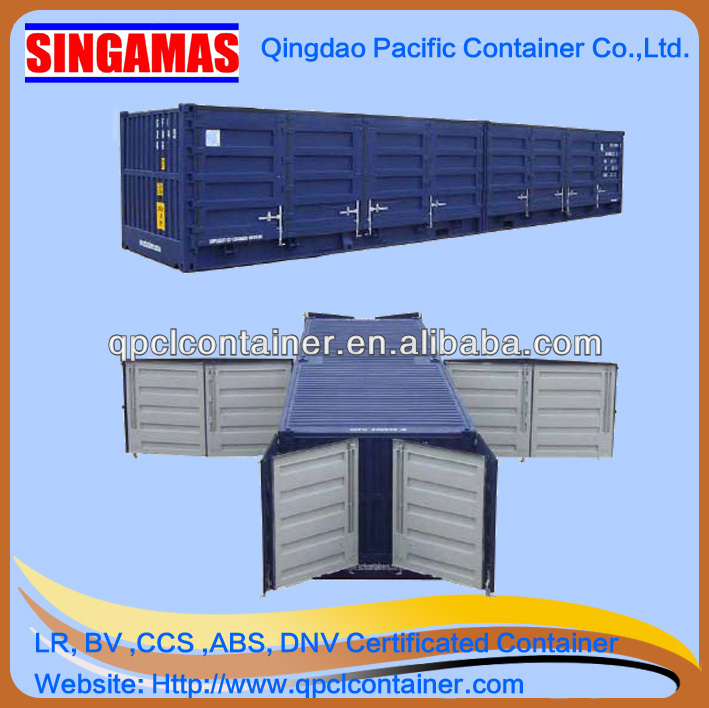 40ft half height both side full access container